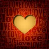 Bello cuore del tessuto - scheda di giorno del biglietto di S. Valentino s Immagine Stock