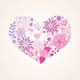 Bello cuore floreale Immagine Stock