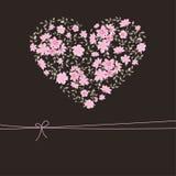 Bello cuore floreale Fotografie Stock Libere da Diritti
