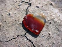 Bello cuore Gem Stone a forma di Immagini Stock Libere da Diritti