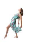 Bello dancing della donna Fotografie Stock