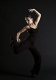 Bello dancing della donna immagini stock