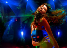 Bello dancing della giovane donna Immagine Stock Libera da Diritti