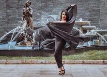 Bello dancing della ragazza Fotografie Stock