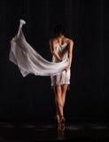 Bello dancing della ragazza ballerina Immagini Stock