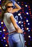 Bello dancing femminile Fotografia Stock Libera da Diritti