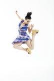 Bello dancing sexy della giovane donna Immagini Stock