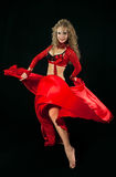 Bello danzatore in costume orientale Fotografia Stock Libera da Diritti