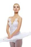 Bello danzatore di balletto isolato su bianco fotografie stock
