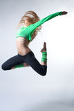 Bello danzatore moderno di stile Fotografia Stock
