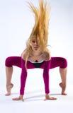 Bello danzatore moderno di stile Fotografie Stock