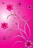 Bello disegno del fiore di vettore Fotografia Stock
