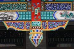 Bello disegno sul architectu tradizionale cinese Fotografia Stock Libera da Diritti
