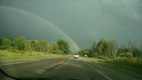 Bello doppio Rainbow immagini stock libere da diritti