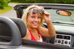 Bello driver della donna Immagine Stock Libera da Diritti