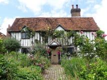 Bello e cottage storico ad un vicolo di 38 chiese, Latimer fotografie stock libere da diritti