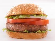 Bello e primo piano succoso dell'hamburger L'alimento è una serie di pasto rapido Fotografia Stock Libera da Diritti