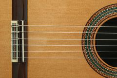 Bello ente classico della chitarra come fondo fotografia stock