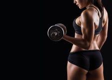 Bello ente della femmina di forma fisica immagine stock