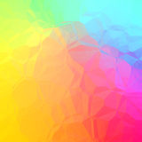 Bello estratto verde rosa giallo blu del gbackground geometrico Fotografie Stock