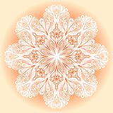 Bello fiocco di neve decorativo Fotografia Stock Libera da Diritti