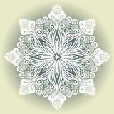 Bello fiocco di neve decorativo Immagine Stock Libera da Diritti
