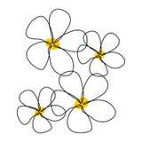 Bello fiore decorativo per la linea stile di disegno continuo del manifesto uno royalty illustrazione gratis