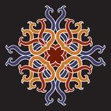 Bello fiore della mandala di vettore Oggetto floreale rotondo ornamentale Immagine Stock