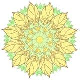 Bello fiore di contorno, elemento di progettazione floreale Fotografie Stock