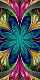 Bello fiore multicolore di frattale Raccolta - patte gelido illustrazione di stock