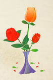 Bello fiore rosso Immagini Stock Libere da Diritti