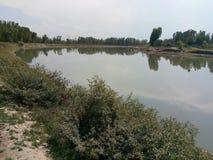 Bello fiume di Jehlum Fotografia Stock