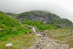Bello fiume in Norvegia Fotografia Stock Libera da Diritti