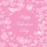 Bello fondo astratto di Bokeh per Valentine Day Fotografia Stock