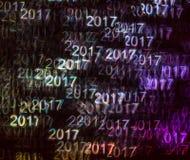 Bello fondo con il numero colorato differente 2017, abstrac Fotografia Stock Libera da Diritti