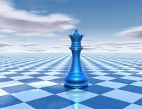 Bello fondo con la regina di scacchi Fotografie Stock