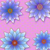 Bello fondo d'avanguardia floreale con i fiori illustrazione di stock
