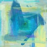 Bello fondo d di schizzo della pittura di effetto verde blu di struttura Fotografia Stock Libera da Diritti