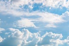 Bello fondo del cielo nuvoloso Fotografia Stock