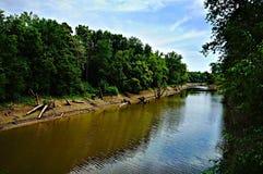 Bello fondo del fiume Fotografia Stock Libera da Diritti