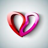 Bello fondo del giorno del biglietto di S. Valentino della st, regalo o cartolina d'auguri Fotografia Stock