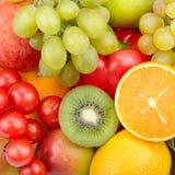 Bello fondo dell'insieme delle verdure e della frutta fotografie stock