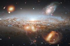 Bello fondo della galassia con la nebulosa, lo stardust e le stelle luminose Elementi di questa immagine ammobiliati dalla NASA royalty illustrazione gratis