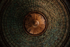 Bello fondo della lampada di struttura del tessuto Fotografia Stock Libera da Diritti