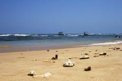 Bello fondo della spiaggia tropicale dell'oceano Fotografia Stock
