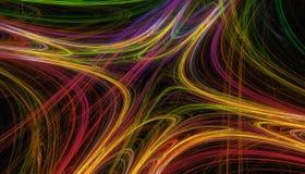 Bello fondo di colore di ardore a spirale con profondità di campo e bokeh 3d l'illustrazione, 3d rende Immagine Stock Libera da Diritti