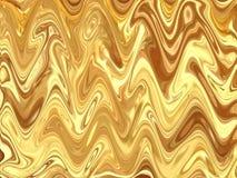 Bello fondo di struttura dell'estratto dell'ondulazione di colore dell'oro Fotografie Stock