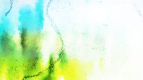 Bello fondo elegante blu di progettazione di arte grafica dell'illustrazione dell'acquerello verde e bianco illustrazione vettoriale