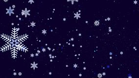 Bello fondo festivo con i fiocchi di neve immagine stock