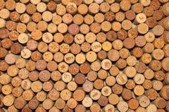 Bello fondo marrone dei sugheri del vino Fotografie Stock Libere da Diritti